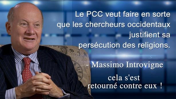 # 11 Le PCC veut faire en sorte que les chercheurs occidentaux justifient sa persécution des religions. Massimo Introvigne : cela s'est retourné contre eux !
